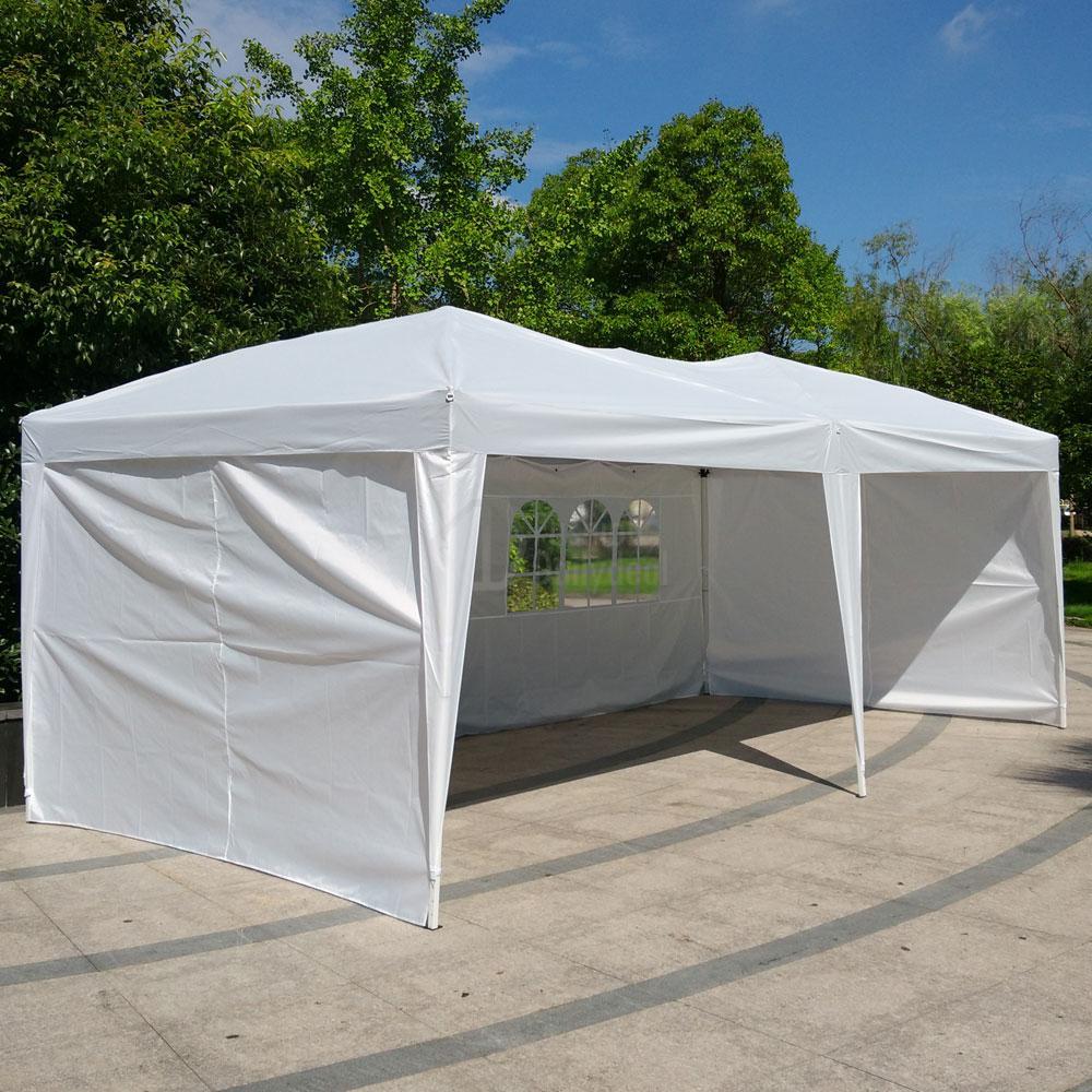 Gazebo Side Walls : Patio gazebo ez pop up party tent wedding canopy w
