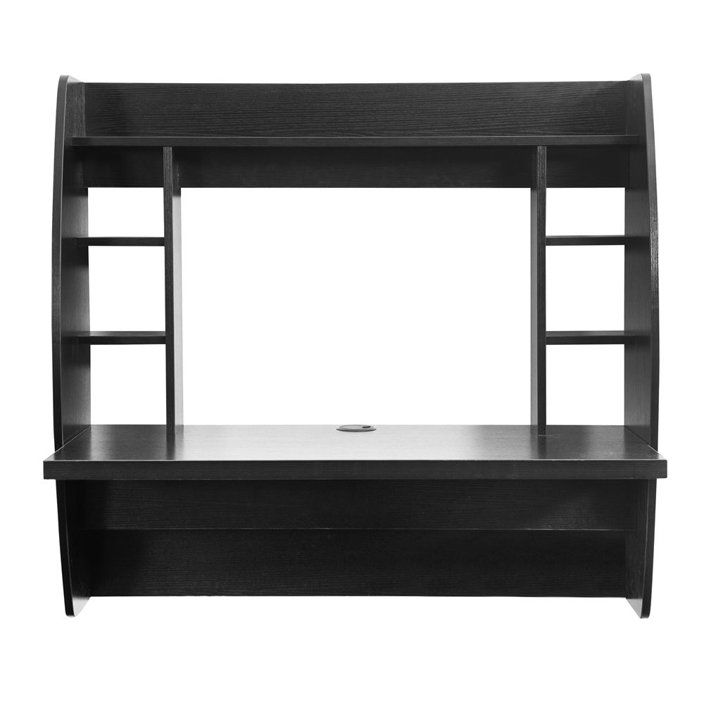 wall mount floating computer desk storage shelves home. Black Bedroom Furniture Sets. Home Design Ideas