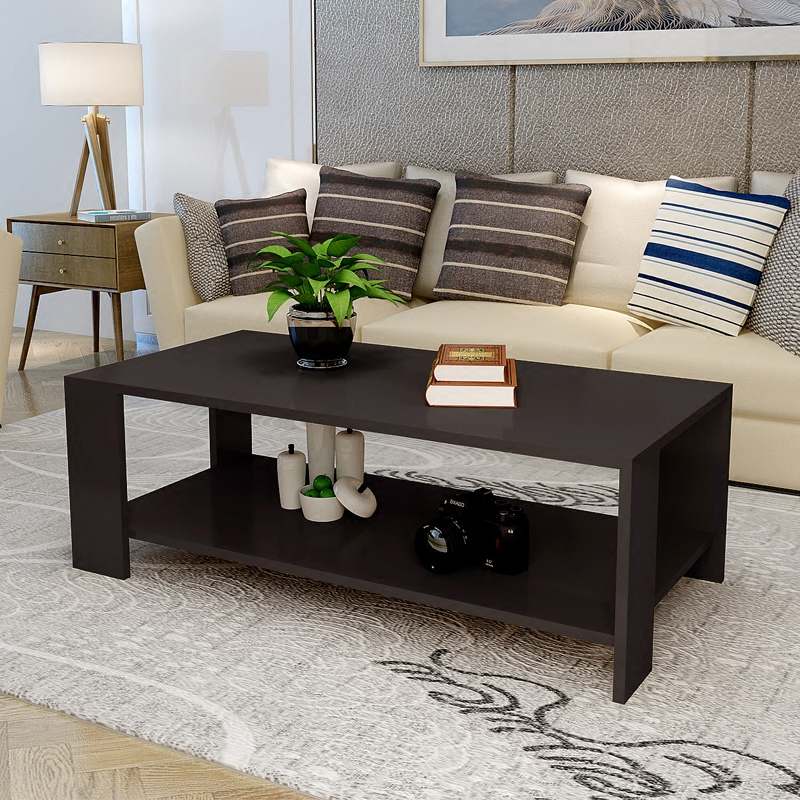 Rectangle Sofa Coffee End Table Storage Shelf Living Room White Black Wood Color Ebay