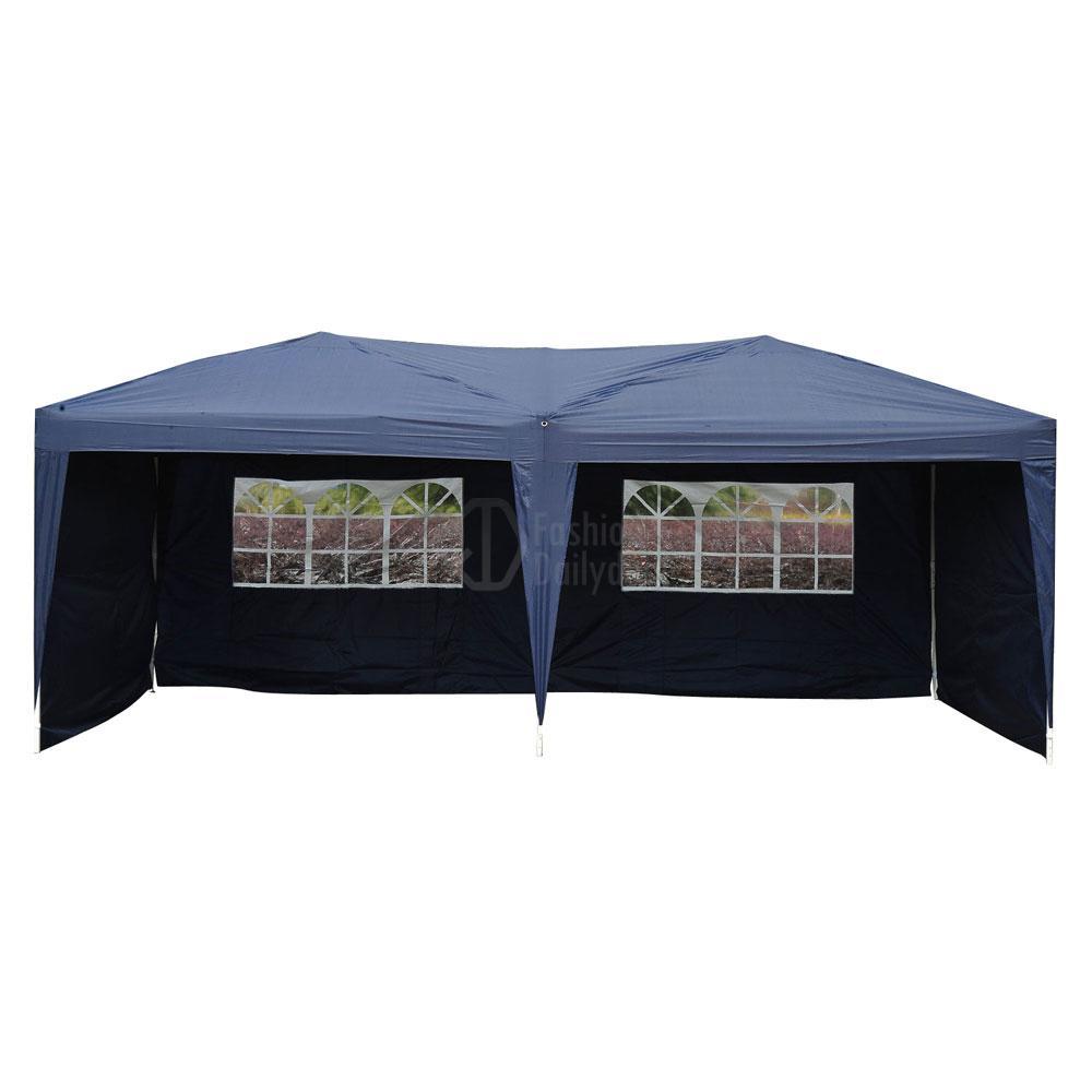 Pop Up Sidewalls : Blue patio gazebo ez pop up party tent wedding