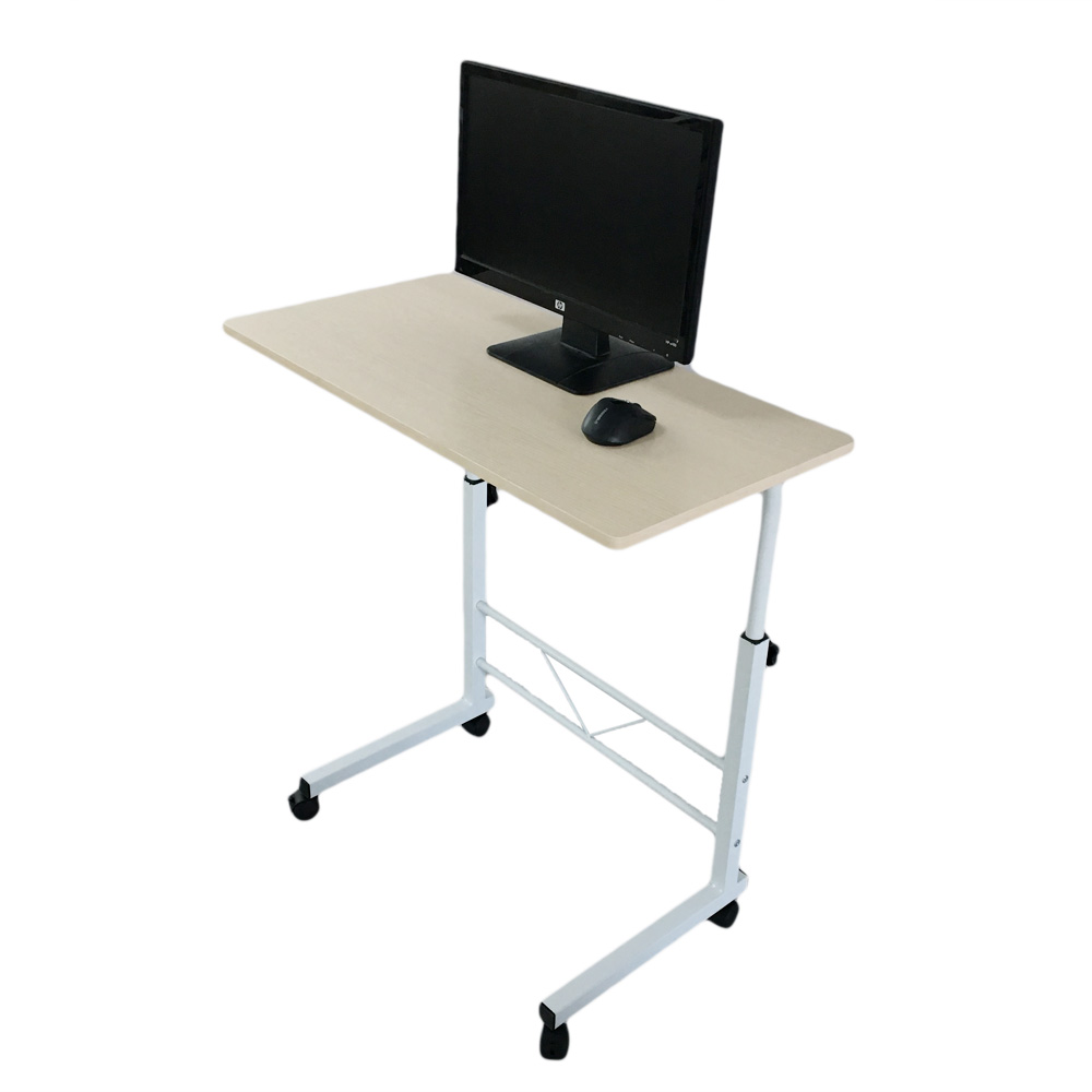 Removable laptop table height adjustable computer desk w wheel sofa bed tray ebay - Tall computer desks for home ...