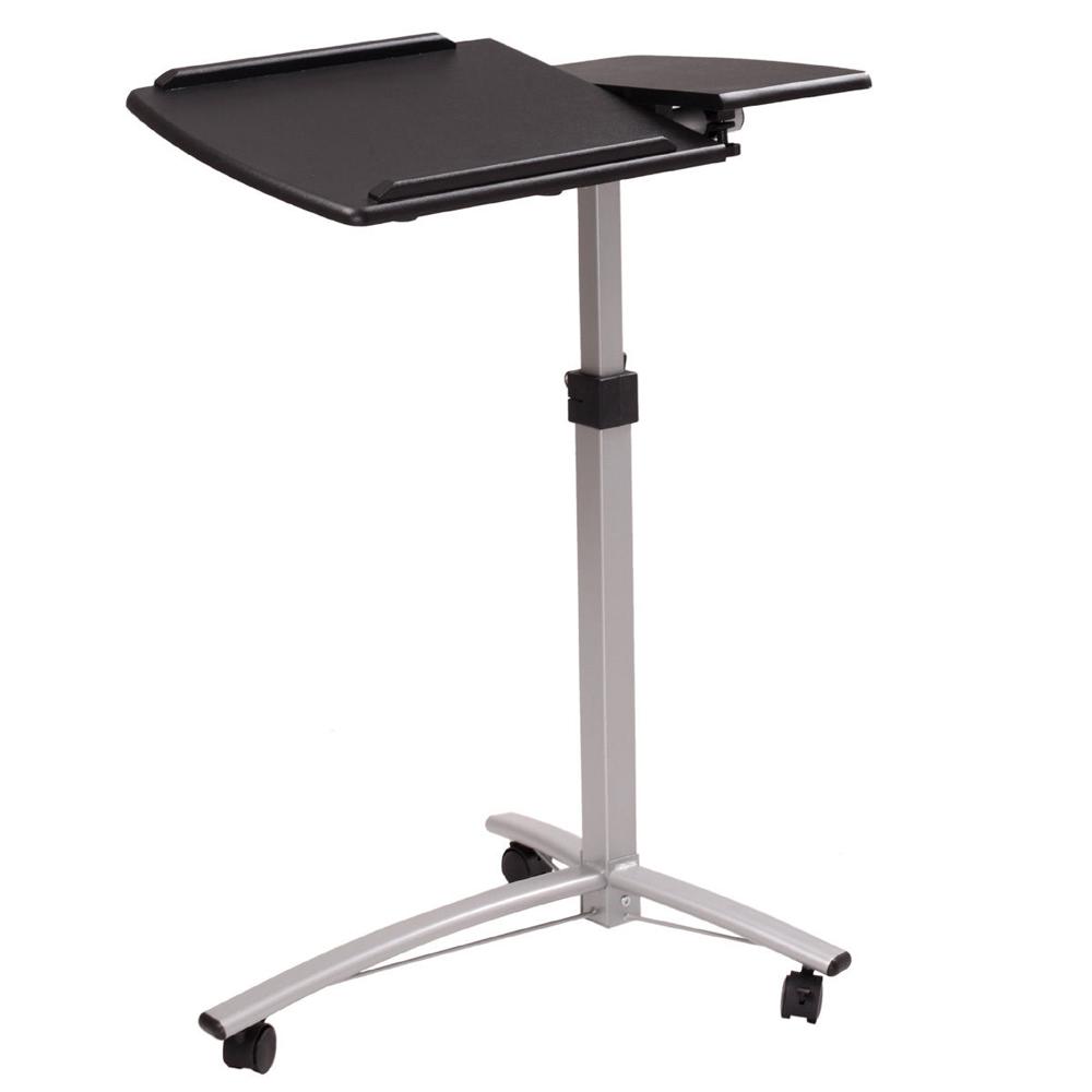 height adjustable laptop desk cart bed hospital rolling notebook table stand. Black Bedroom Furniture Sets. Home Design Ideas