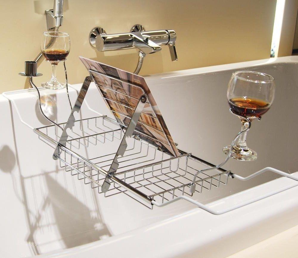Extension over bath tub tray organiser storage shelf caddy for Tub over old tub