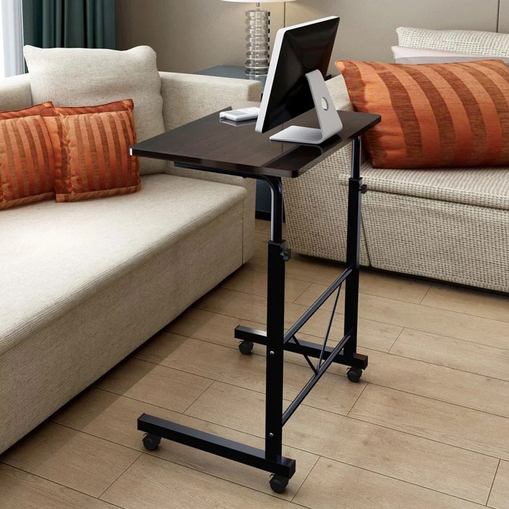 removable laptop table height adjustable computer desk w wheel sofa bed tray ebay. Black Bedroom Furniture Sets. Home Design Ideas