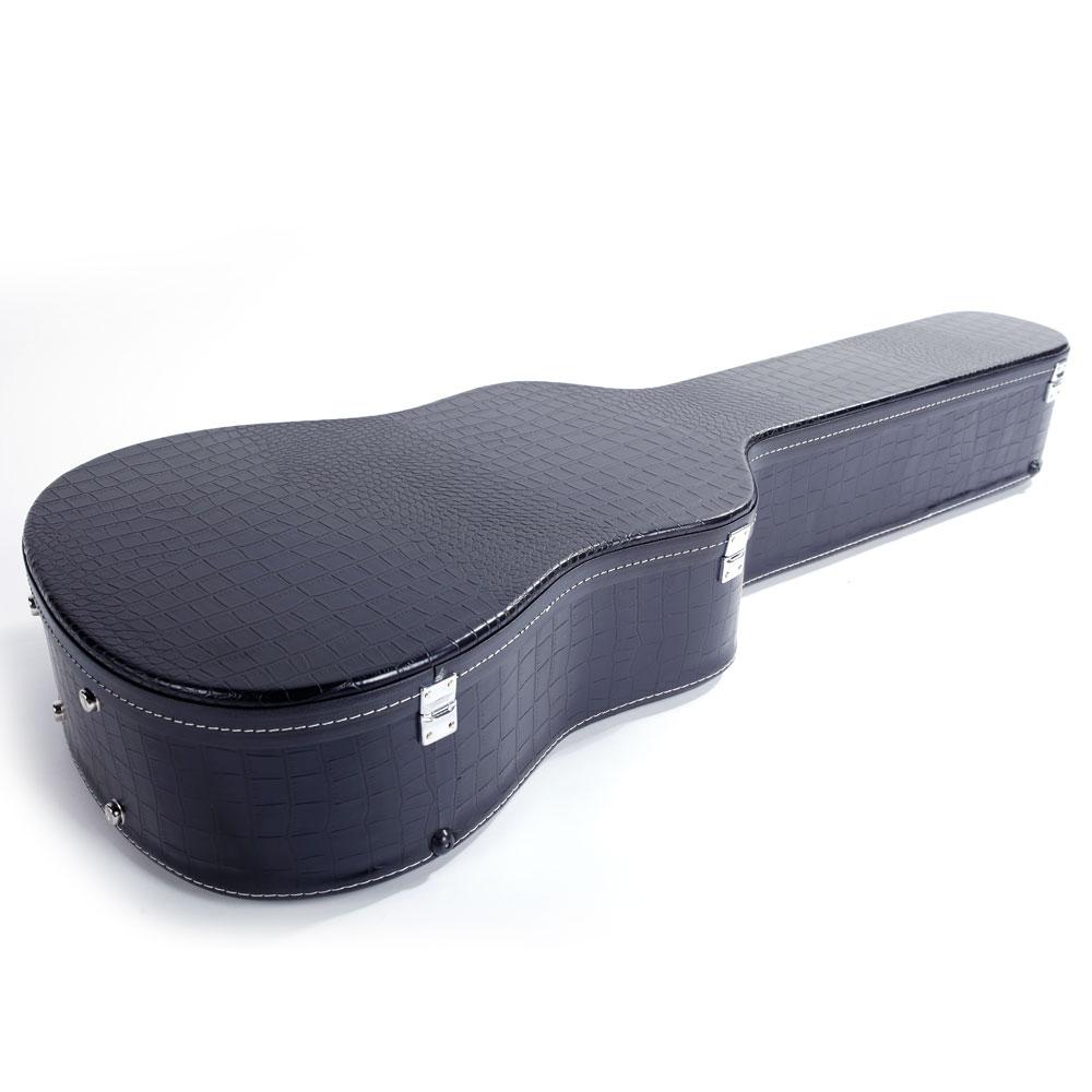 41 simple style acoustic folk guitar case protective hard case black ebay. Black Bedroom Furniture Sets. Home Design Ideas