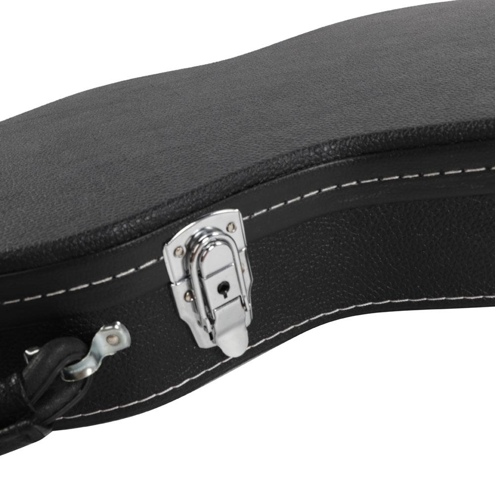glarry leather electric st guitar case protective hard lockable case ebay. Black Bedroom Furniture Sets. Home Design Ideas
