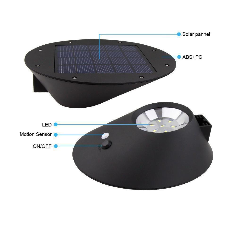Landscape Lighting Gutter Mount: 10x 2W Oval Solar Power LED Wall Path Landscape Mount