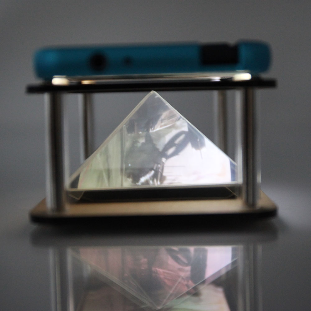 3d holographic hologram display pyramid projector for for Projector that works with iphone