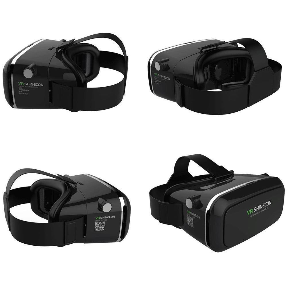 google cardboard shinecon vr box virtual reality 3d glasses bluetooth control. Black Bedroom Furniture Sets. Home Design Ideas