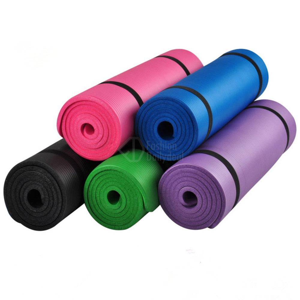 YOGA MAT 15MM THICK EXERCISE FITNESS PHYSIO PILATES GYM